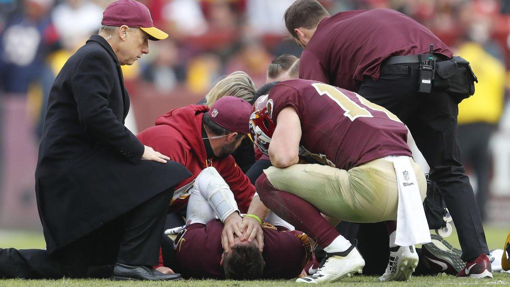 Alex Smith right after getting injured on the field