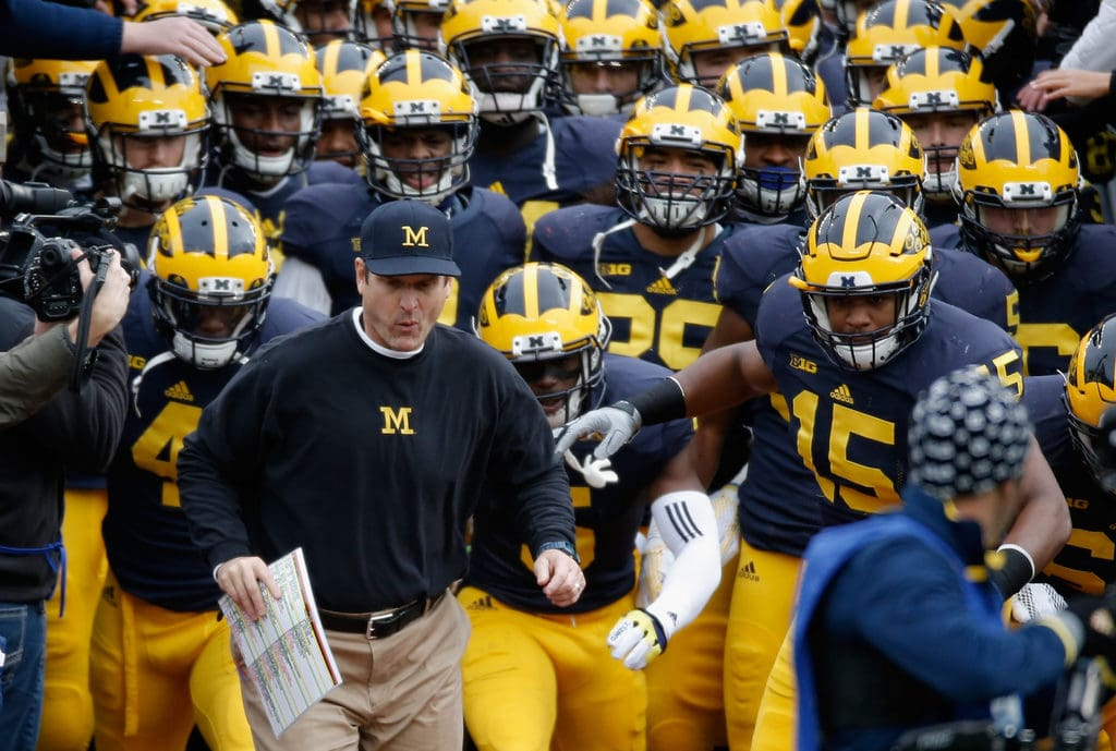 Jim Harbaugh and His Team