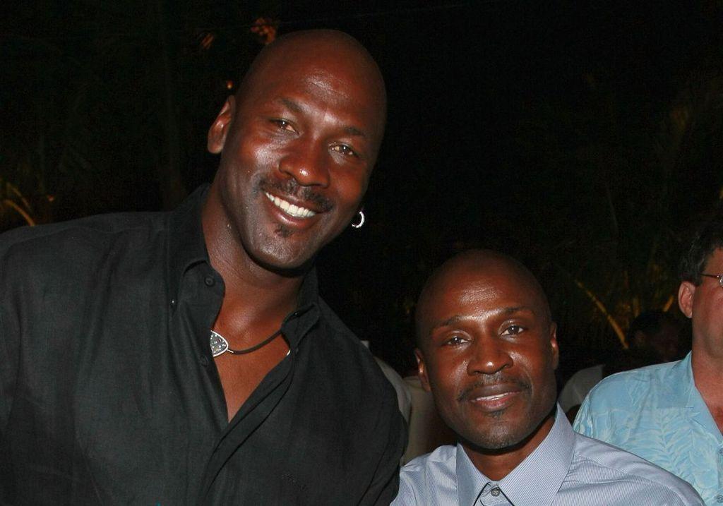 Michael Jordan with his elder brother, Larry Jordan