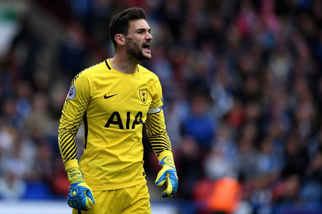Hugo Lloris giving instructions to his defense during a match