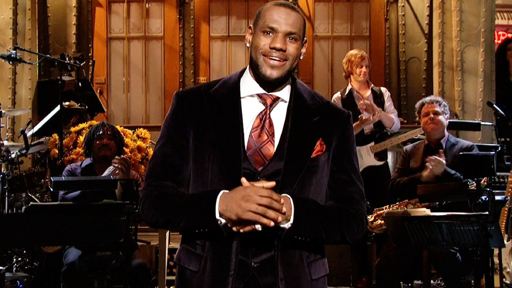 LeBron James during his monologue on Saturday Night Live