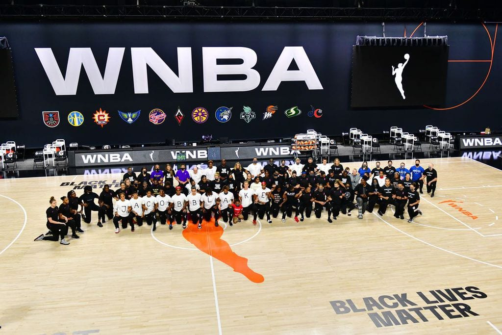 the WNBA supports the Black Lives Matter movement