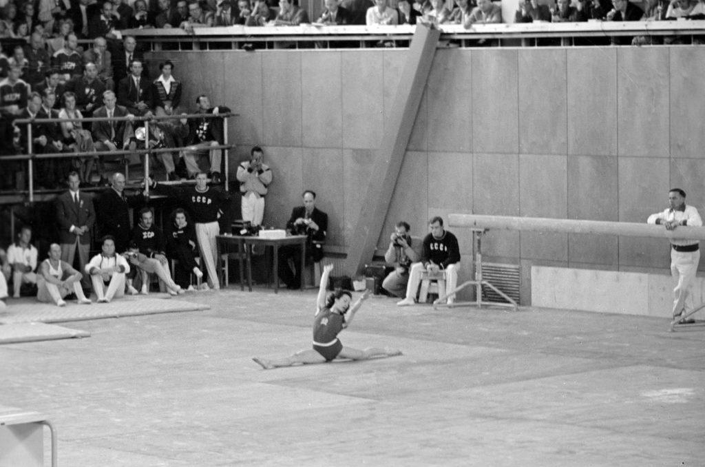 Agnes Keleti at the 1952 Helsinki Games