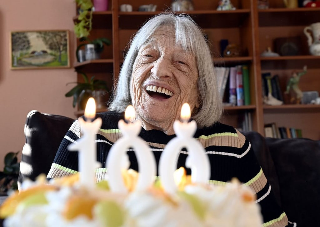 Agnes Keleti on her 100th birthday