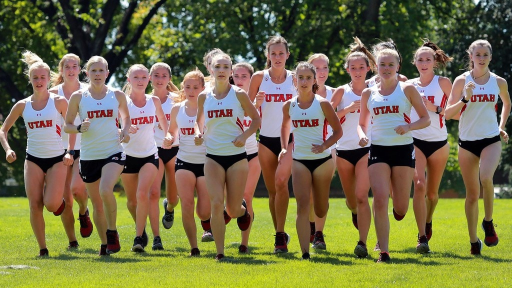 Girl athletes from Utah University