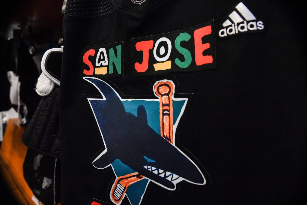 San Jose Sharks special edition jersey in honor of Juneteenth