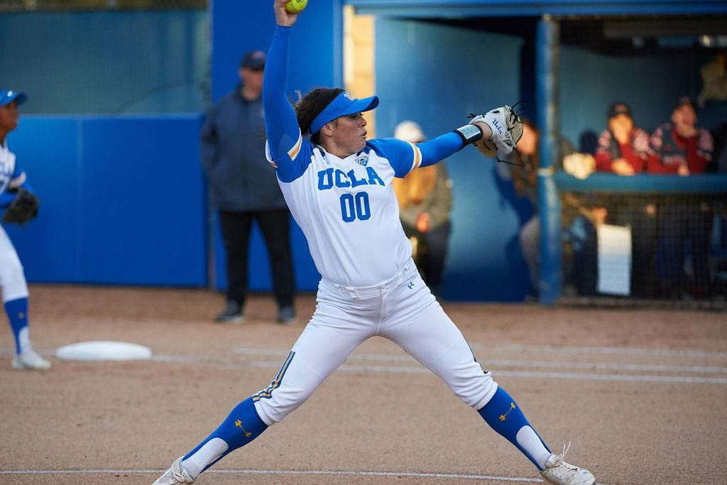 Rachel Garcia during a game for UCLA