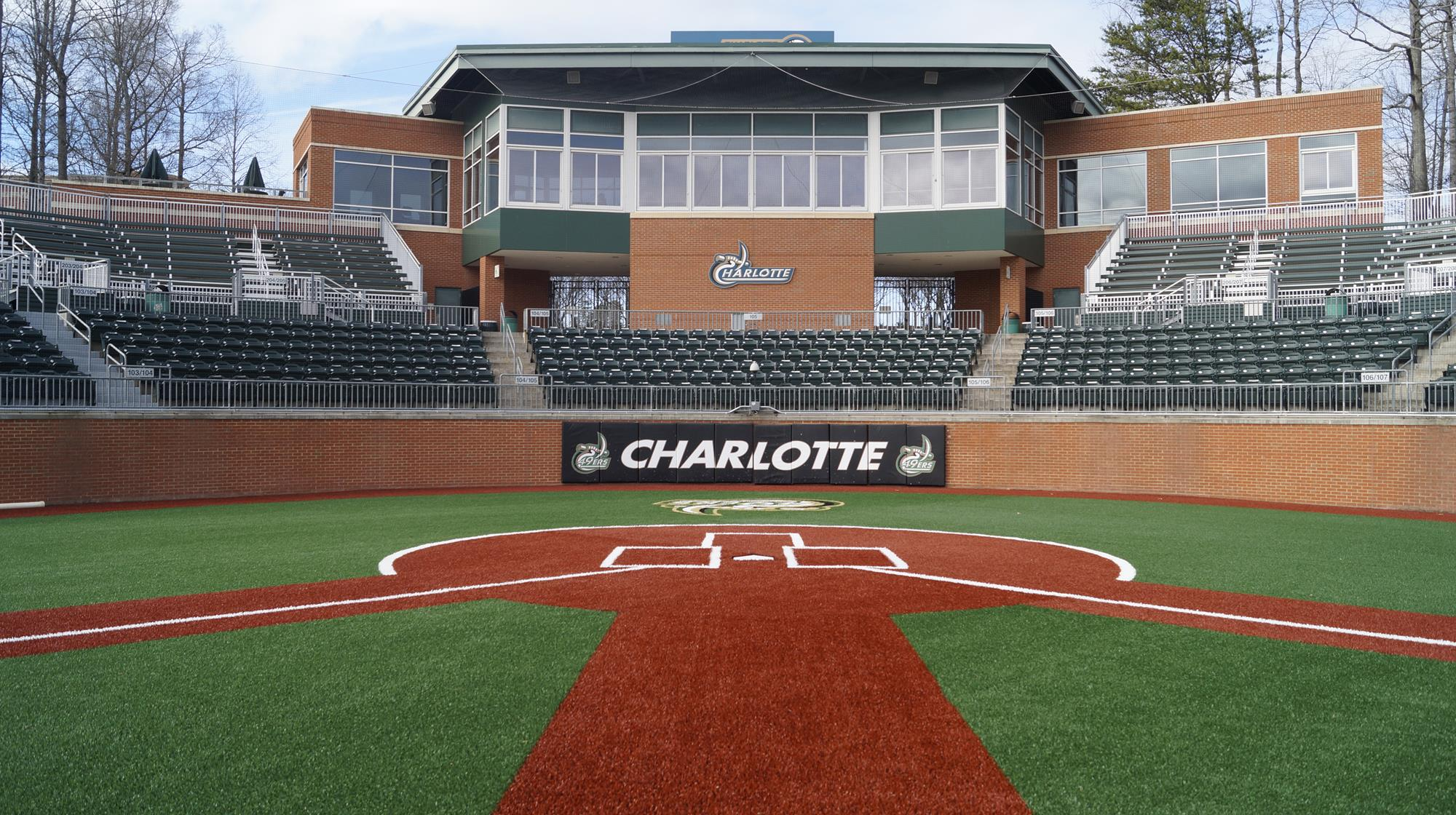 The Baseball field of the Charlotte 49ers at Hayes Stadium