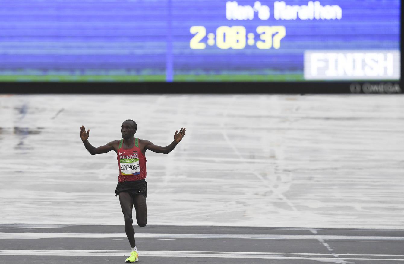 Olympic gold medalist Kenyan distance runner Eliud Kipchoge got less media coverage than Amdouni's incident.