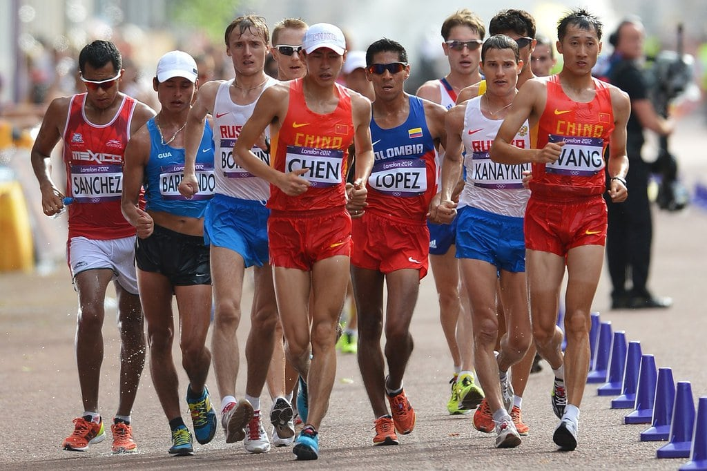 The Olympic men's marathon