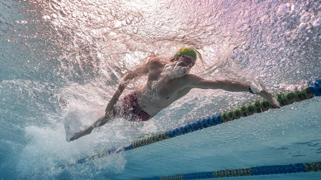 A swimmer at the Tokyo Paralympics
