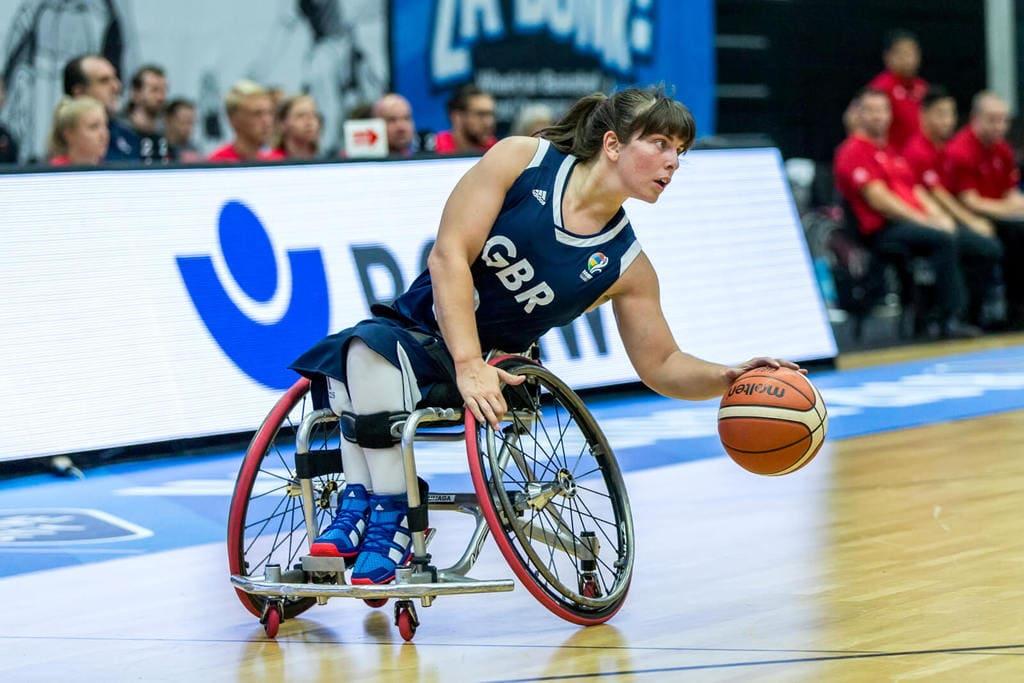 LGBTQ Paralympic athlete, Laurie Williams, representing Team Great Britain.